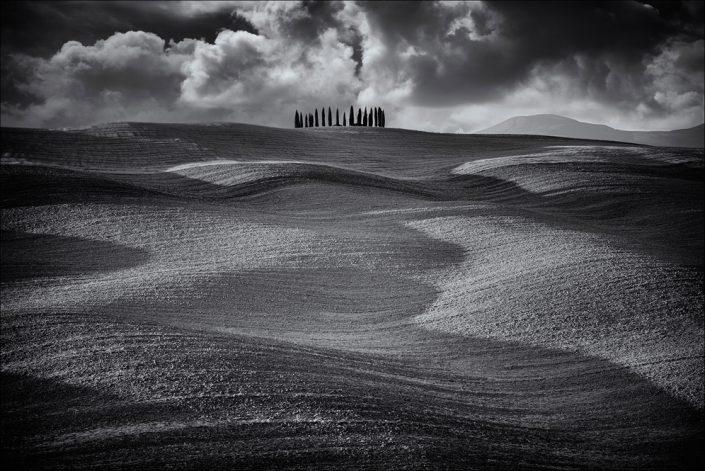 Landscape, BW, Tuscany, Italy