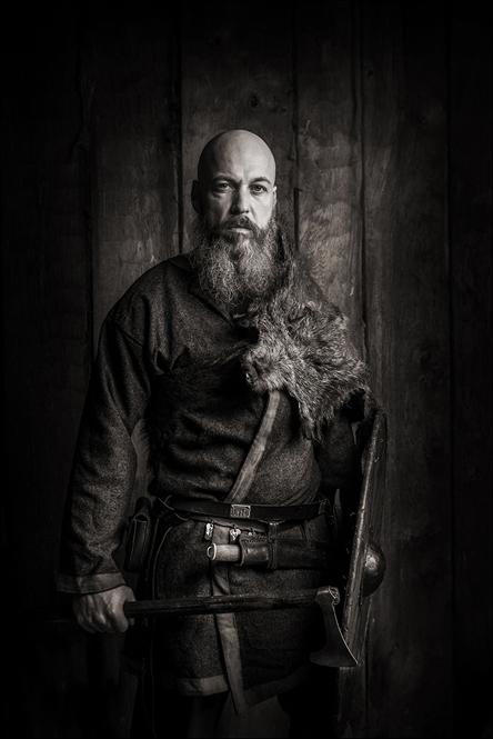 Portræt, portrætfoto, male, viking