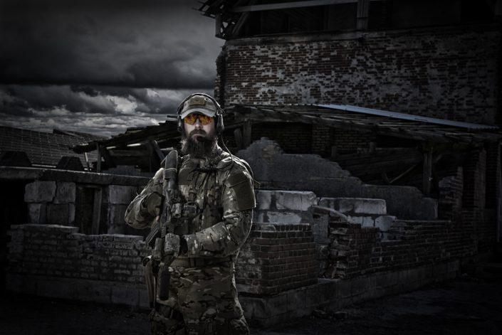 Veteran, on-location portrait with one flash light